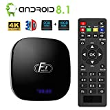 Android 8.1 TV Box,Dolamee F1 Smart tv Box 2GB RAM 16GB ROM Amlogic Quad Core 64bit Processor Smart Media Player,Support 4K 1080P 3D 2.4GHz WiFi 10/100M Ethernet LAN