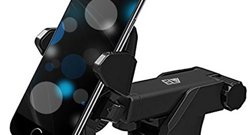 Car Phone Holder Universal Long Arm, Windshield for Smartphones – Black