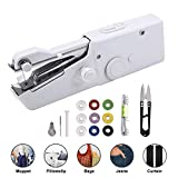 DUTISON Portable Sewing Machine, Mini Cordless Handheld Stitch Electric Household Tool for Fabric, Clothing,...