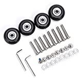 OwnMy 40 x 18mm Luggage Suitcase Replacement Wheels, Rubber Swivel Caster Wheels Bearings Repair Kits, Set of 4