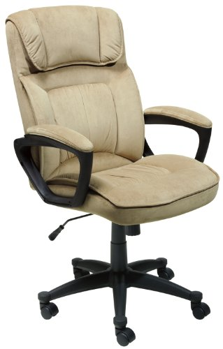 Serta Executive Office Chair, Microfiber, Light Beige