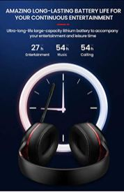 Picun-Elite-P80S-Wireless-Headset-WExtra-Bass-HD-Surround-Sound-Noise-Reduction-WiredWireless-Opts-Dual-ShockVibration-Mode-AUX-Mic-LED-Light-Display-Bluetooth-Headphones-White