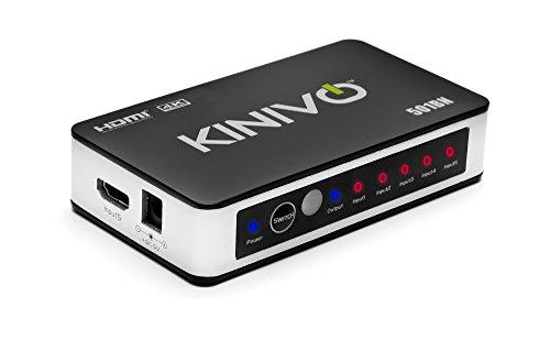 Kinivo 501BN 5-Port High Speed 4K 30Hz HDMI...