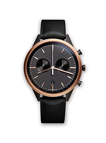 41ZSNQsPgUL C41 chronograph watch in pvd rose gold with black nitrile rubber strap Swiss made Swiss-quartz Movement