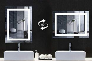 MIRPLUS-24-x-32-inch-LED-Vanity-Bathroom-Mirror-with-Touch-Switch-Wall-Mounted-Backlit-Lighted-Makeup-Mirror-Dimmable-Color-Temperature-WarmCold-WhiteAntiFogWaterproof-Vertical-Horizontal