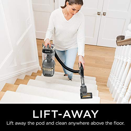 Shark LA502 Rotator Lift-Away ADV DuoClean PowerFins Upright Vacuum with Self-Cleaning Brushroll Powerful Pet Hair Pickup and HEPA Filter, 0.89 Quart Dust Cup Capacity, Silver 16