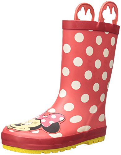 Western Chief Kids Waterproof Disney Character Rain Boots with Easy on Handles, Minnie Mouse, 11 M US Little Kid
