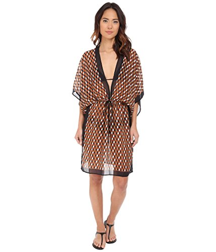 810FDGCu7lL Enjoy a sunny resort look in this Deco Hexagon Cover-Up.   Loose fit with drawstring tie at waist.