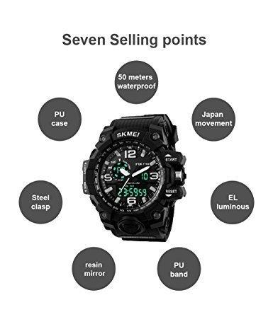 SKMEI Analog Digital Quartz Men's Watch