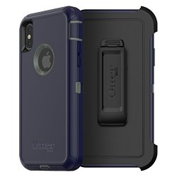 OtterBox DEFENDER SERIES Case for iPhone X (ONLY) - Frustration Free Packaging - STORMY PEAKS (AGAVE GREEN/MARITIME BLUE)