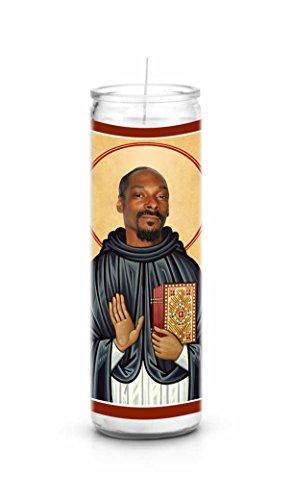 Snoop Dogg Celebrity Prayer Candle - Funny Saint Candle - 8 inch Glass Prayer Votive - 100% Handmade in USA...
