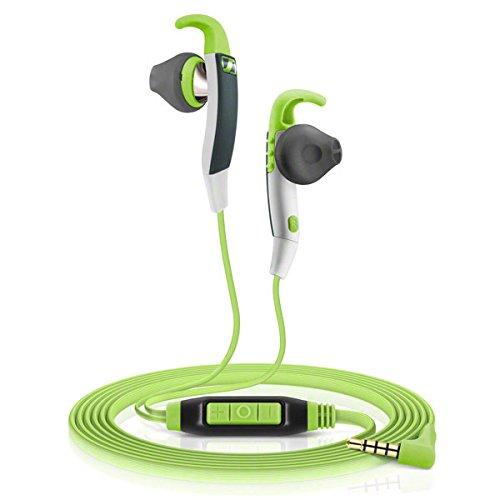 Sennheiser MX686G, Microcuffia Microfonica Sport di Tipo Ear Canal, Verde