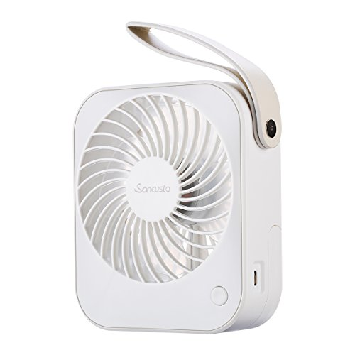 Personal Fan, Sancusto Mini USB Desk Fan, Quiet and Small Table Fan with Adjustable Angle 2 Speed Setting for Home Office Travel and School