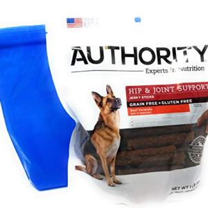 Authority Hip and Joint Support Jerky Sticks 1lb and Tesadorz Resealable Bags