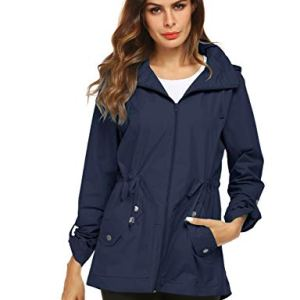 Raincoat Women Waterproof Outdoor Active Mesh Lining Hooded Rain Trench Jacket 2 Fashion Online Shop Gifts for her Gifts for him womens full figure