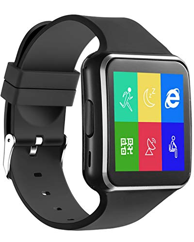 Bluetooth Smart Watch Android iOS Support SIM Card Slot Camera Touch Screen Smartwatch, Fitness Tracker Watch with Sleep Monitor Pedometer Watch for Women Kids Men (SilverA)…