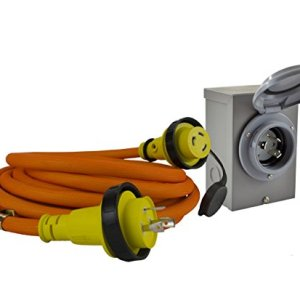 Conntek GIBL530-025 DUO-RainSeal Kit 30 Amp Transfer Switch Cord/Generator Extension Cord with Inlet Box