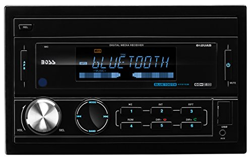 BOSS AUDIO 812UAB Double-DIN MECH-LESS (No CD or DVD player) Receiver, Bluetooth, Detachable Front Panel, Wireless Remote