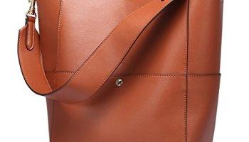 3f43599fe7 S-ZONE Women s Fashion Vintage Leather Tote Shoulder Bag Handbag Purse