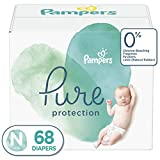 Diapers Size 0 (68 Count) - Pampers Pure Disposable Baby Diapers, Hypoallergenic and Unscented Protection, Super Pack