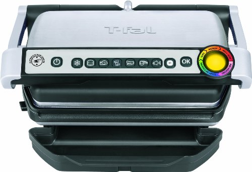 T-fal OptiGrill Electric Grill, Indoor Grill, Removable Nonstick Plates, Silver