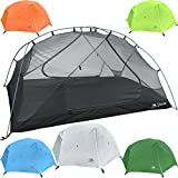 Hyke & Byke 2 Person Backpacking Tent with Footprint - Lightweight Zion Two Man 3 Season Ultralight, Waterproof, Ultra Compact 2p Freestanding Backpack Tents for Camping and Hiking (White)