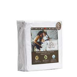 Manor Ridge 100% Waterproof and Hypoallergenic Mattress Protector, Queen, White