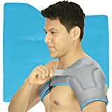 Arctic Flex Shoulder Ice Pack Brace - Cold Reusable Cool Gel Wrap & Hot Therapy - Immobilizer Compression Stability Support for Tendonitis, Dislocated Joint, Left & Right Rotator Cuff Arm Pain Relief
