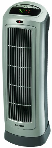 Lasko 755320 Ceramic Tower Heater with Digital Display and Remote Control