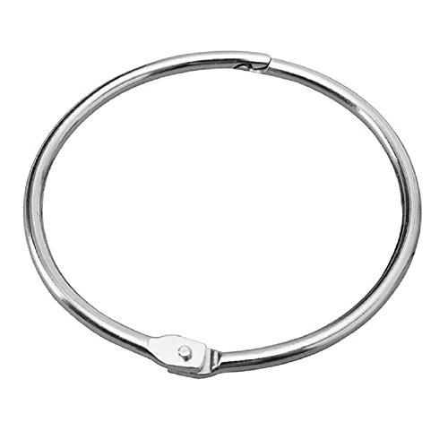 Loose Leaf Binder Rings,2 inch (15 Pack), Nickel Plated Steel Binder Rings,Keychain Key Rings, Metal Book Rings,Silver, for School, Home, Or Office