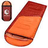 VENTURE 4TH Hiking Sleeping Bag – Compact Summer Sleeping Bag for Adults and Kids | Orange/Red
