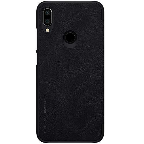 Nillkin Case for Xiaomi Redmi Note 7 Qin Genuine Classic Leather Flip Folio PC with Card Slot Black Color 5