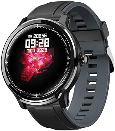 CrossBeats Ace Metal Smart Watch Full Touch Fitness Tracker Blood Pressure Blood Oxygen Heart Rate Monitor Waterproof Exercise Smartwatch for iPhone Samsung Android (Steel Grey)