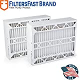 Filters Fast Compatible Replacement for Aprilaire SpaceGard 2400 Air Filter -MERV 13 2-Pack 16' x 28' x 6' (Actual Size: 15 3/8' x 26 15/16' x 6')