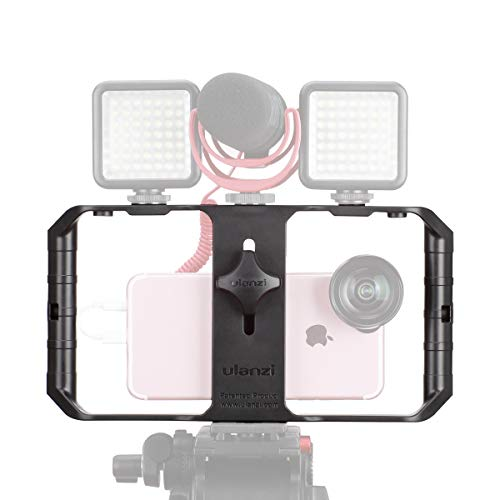 ULANZI U Rig Pro Smartphone Video Rig, Filmmaking Case, Phone Video Stabilizer Grip Tripod Mount for Videomaker Film-Maker Video-grapher for iPhone Xs XS Max XR iPhone X 8 Plus Samsung