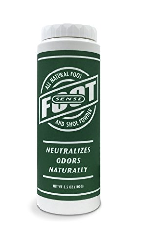 FOOT SENSE All Natural Smelly Foot & Shoe Powder - Natural formula for smelly shoes and stinky feet. (1 Pack)