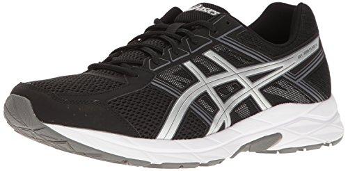 ASICS Men's Gel-Contend 4 Running Shoe, Black/Silver/Carbon, 11 M US