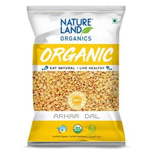 Natureland Organics Arhar/Toor Dal Pouch, 1 kg Pack In India