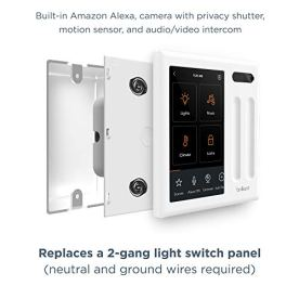 Brilliant-Smart-Home-Control-2-Switch-Panel--Alexa-Built-In-Compatible-with-Ring-Sonos-Hue-KasaTP-Link-Wemo-SmartThings-Apple-HomeKit--In-Wall-Touchscreen-Control-for-Lights-Music-More