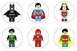Lego Superhero Inspired Edible Cupcake Toppers Decoration