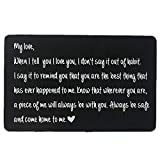 Engraved Wallet Inserts, Personalized Wedding Anniversary Gift for Men, Best Husband Gifts, Valentines Gifts, Deployment Gifts for Men, Fathers Day, Dad Gifts, Fiance Gifts