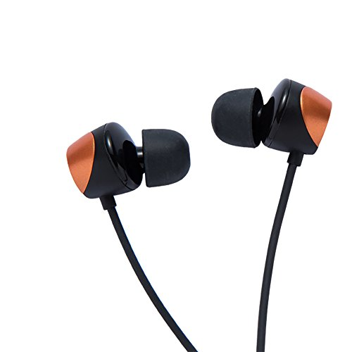 Tunai Creative Drum Hi-Res Earphone - In-ear Headphones with Extra Large 1/2' Drivers for Improved Soundstage and Bass Response (Shine Orange)