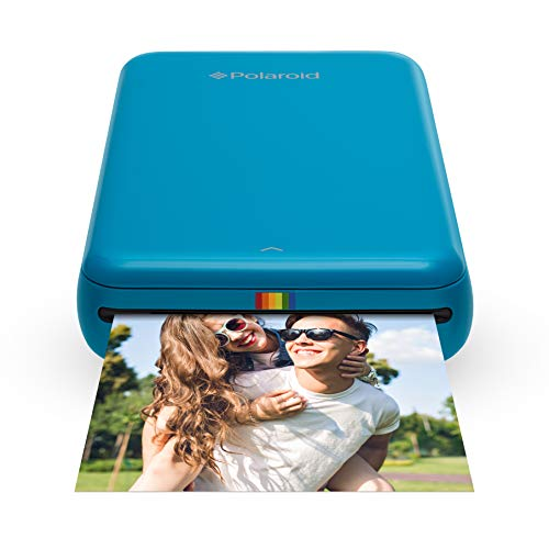 Polaroid Zip Wireless Mobile Photo Mini Printer (Blue) Compatible w/iOS & Android, NFC & Bluetooth Devices