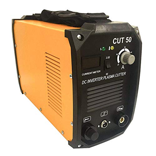 "SUNCOO Cut-50 Plasma Cutter Electric DC Inverter Machine with Digital Display Dual Voltage 110/220V,3/4"" Clean Cut"