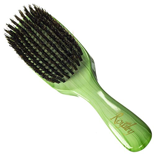 Royalty By Brush King Wave Brush #914-9 Row Hard brush - Great 360 waves brush for Wolfing - From the maker of Torino Pro
