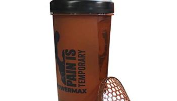 PowerMax Fitness PSB Protein Shaker Bottle with Twist n' Lock Single Storage