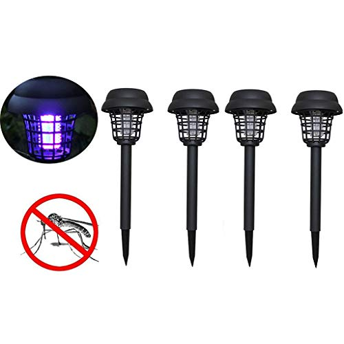 BBTshop 4PC Solar Powered LED Light Mosquito Pest Bug Zapper Insect Killer Lamp Garden Lawn