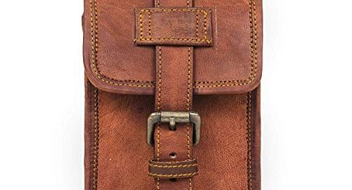 Genuine Leather Waist Mobile Pouch for Men