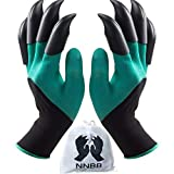 NNBB Garden Gloves with Fingertips Claws Quick- Great for Digging Weeding Seeding poking -Safe for Rose Pruning -Best Gardening Tool -Best Gift for Gardeners (Double Claw)