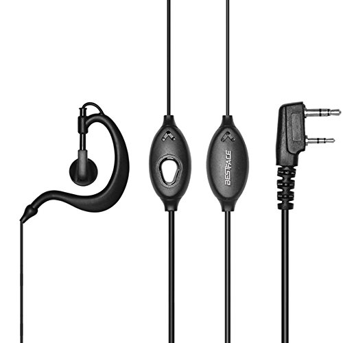 BestFace Newest 10 Pack Earpiece Headset Mic for Baofeng UV 5R/5RA/5RA+/5RB/5RC/5RD/5RE/5RE+ 666s 777s 888s Two-way Radio